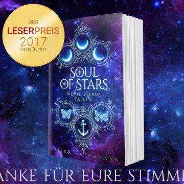 Soul of Stars unter den Top 35 beim Lovelybooks Leserpreis 2017